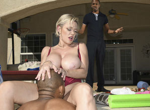 Poolside Ass fucking Plow With Ebony..
