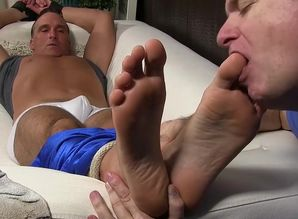 Mature fellow Sebastian corded up for..