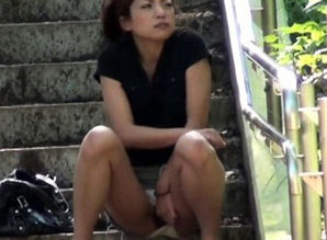 Heeled japanese piss public