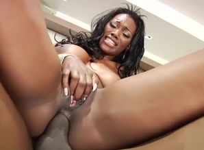 Ebony honey is getting nailed and glazed