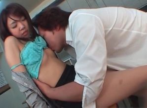 Jap  in college uniform having orgy..
