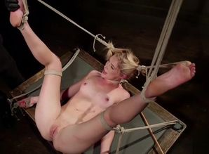 Mona Wales trussed up and Tantalized