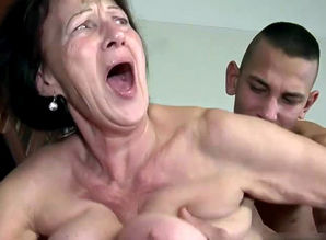 Mature dame neighbor wails when..