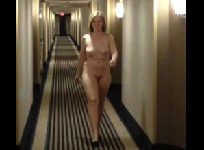 Entirely bare lady ambling tunnel of..
