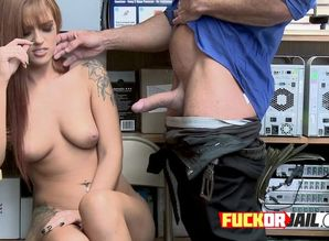 shoplifter sandy-haired stunner gets..