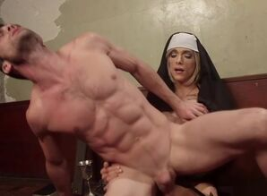 Shemale nun penalizing ass fucking..