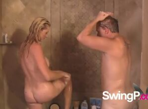 Inexperienced swinger duo joins the..