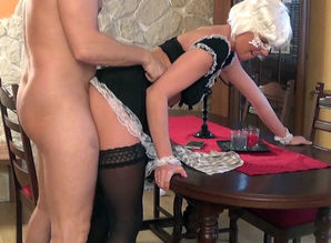 Marvelous Young woman Maid doing..
